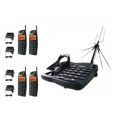 SENAO SN-358 PLUS 4HS Long range phone up to 5-10km in kit with 4 handsets and outdoor antenna