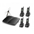 SENAO SP-922 PRO 4HSW/A Long range cordless PBX system up to 5km 4 lines with 4 Handsets